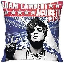 Kaihngl Adam Lambert Acoustic Live Pillowcase,Pretty Cartoon Pillowcase Covers, Home Decoration Pillowcases Bulk, Sofa Car Seats Square Pillowcases Standard(18x18 in)