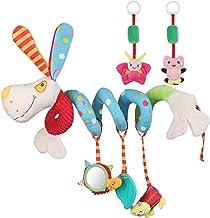 Lictin Juguetes Colgantes Espiral para Bebés-3 PCS Juguetes Colgantes del Cochecito para Bebés, de Material de Algodón PP Suave sin BPA para Cochecito Cuna para 3-12 Meses