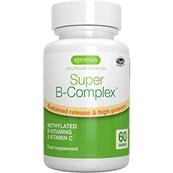 Super B-Complex – Methylated Sustained Release B Complex Vitamins, Folate & Methylcobalamin, Vegan, 60 Small Tablets