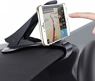 Phone Holder for Car, HUD Design Car Phone Mount : [Update Version] Dopobo Adjustable Dashboard Cell Phone Cradle (Update Black)