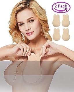36c3b5af32c JFan Sujetador Invisible Coneja para Mujer Silicona Push Up Sujetadores  Adhesivos Invisibles Reutilizable Pezón