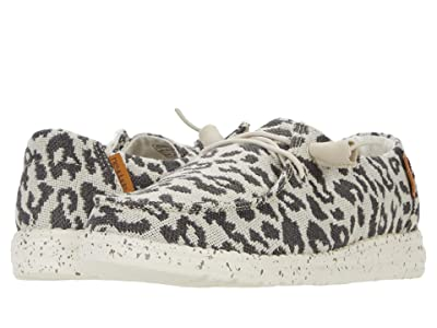 Hey Dude Wendy Woven (Cheetah Grey) Women