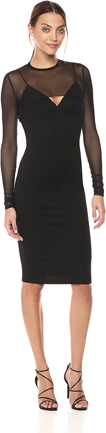 KENDALL + KYLIE Womens Mesh Overlay Dress Cocktail Dress