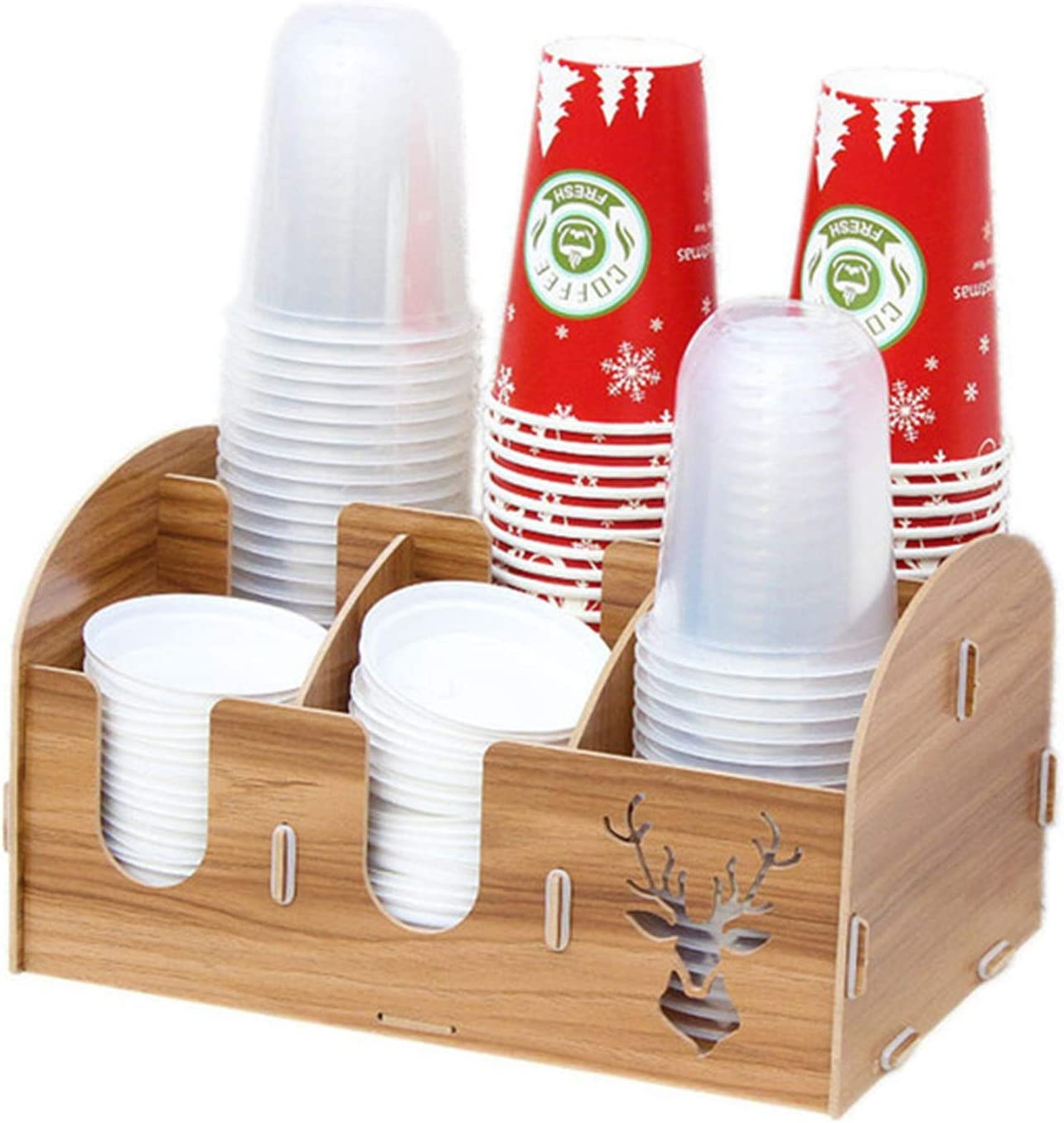 Teerwere Cup and Lid Organizer Spring new work Holder Mult Disposable Wooden National uniform free shipping
