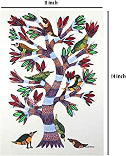 India Meets India Handmade Wall Hanging Art/Wall Hanging Painting of Beautiful Nesting Tree for Decorative Homes/Offices, Best for Gifting, Made by Awarded Indian Artisans