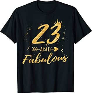 23rd Birthday Gifts for Women, 23 and Fabulous Party Shirt