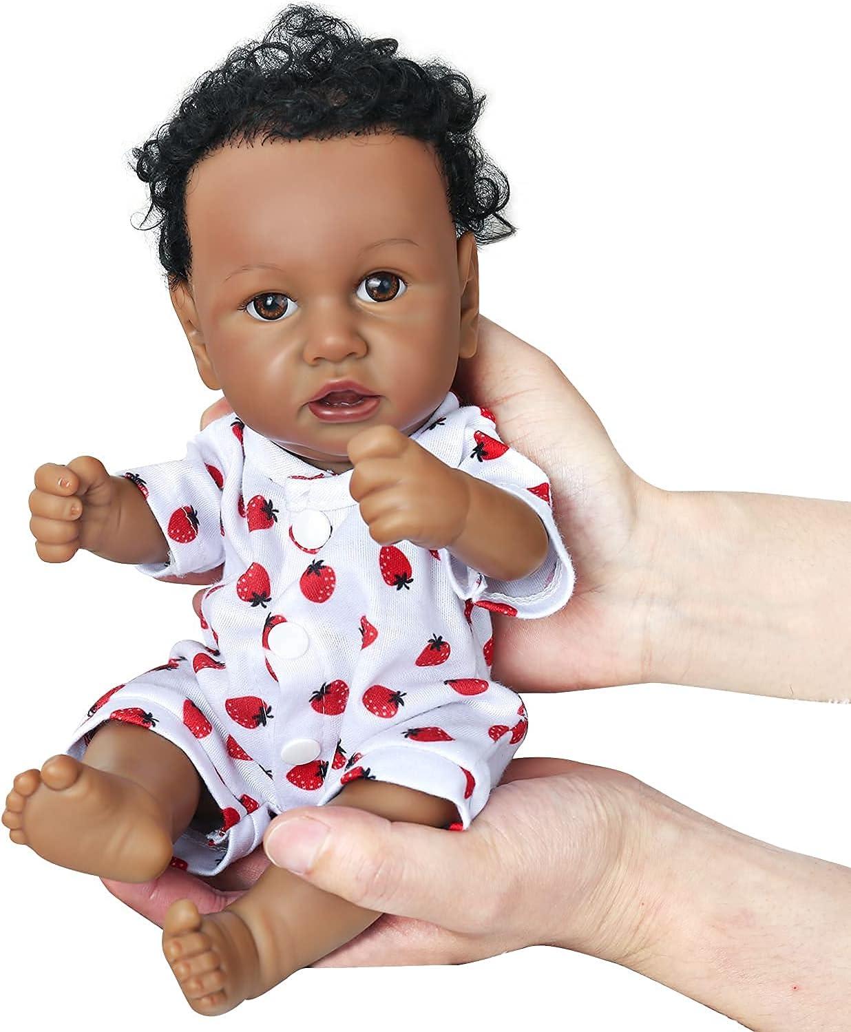 Reborn Japan Maker New Baby Doll Silicone Full Body Bombing new work Black 12 Lifelike Inch Afri