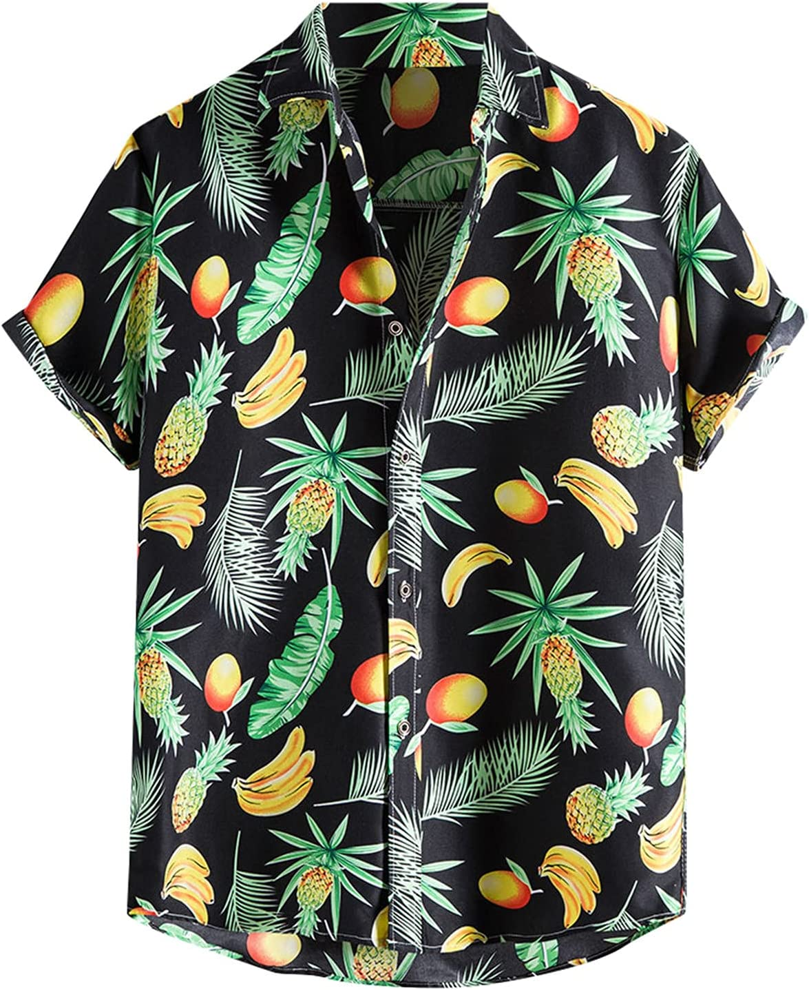 One76 Fashion Men's Summer Casual Printed Top Sleeve Short Popular products Tampa Mall Blous