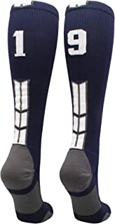 Player Id Jersey Number Socks Over The Calf Length Navy and White