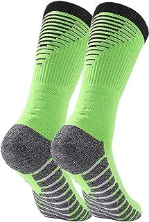 Calcetines de Hombre Calcetines Deportivos Transpirables Calcetines de Fútbol Calcetines Deportivos Antideslizantes Unisex 38-42, Control de Humedad, 1/5 Pares