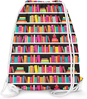 Library Book Case Drawstring Bag - Large (13.3 x 17.3)