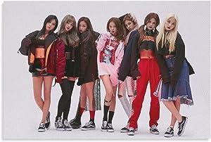 CLC Kpop Girl Group Band Star Hobgoblin Concept Seungyeon Sorn Yeeun Elkie Eunbin Seunghee Yujin Retro Version Sexy Boobsgirl Horizontal Prints Painting Nordic Decoration Living Room Home Decor 16x24i