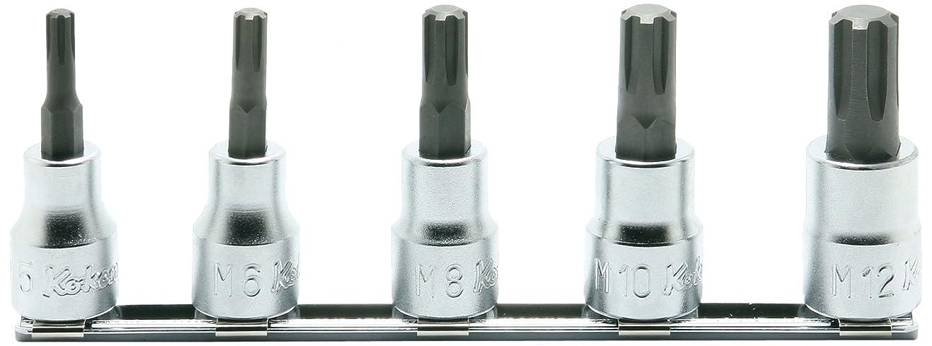 耐えられるお母さんウィンクコーケン 3/8(9.5mm)SQ. CVビットソケットレールセット 全長50mm 5ヶ組 RS3027/5-L50