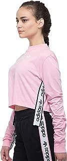 adidas Originals Women's Slightly Cropped Long Sleeve Tape Shirt Tee