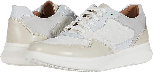 White/Stone Leather/Text Combi