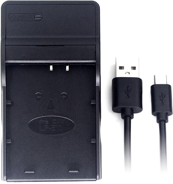 LP-E10 USB Cargador para Canon EOS 1100D EOS 1200D EOS Kiss X50 EOS Rebel T3 batería de la cámara