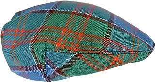 House of Edgar 100% Regimental Heavy Weight Scottish Tartan Winter Wool Flat Cap - Stewart Appin Hunting Ancient