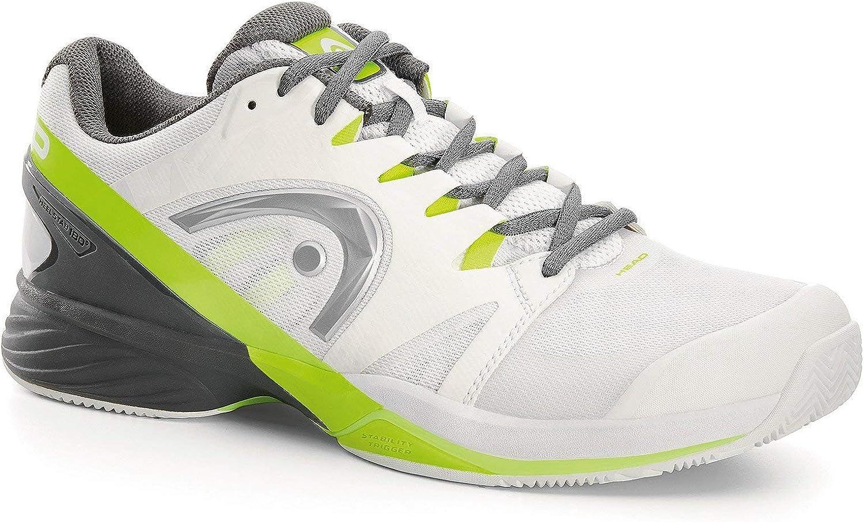 Head Nitro Pro Men's CLAY Tennis shoes White Neon Yellow (8.5)