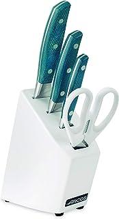 Arcos Juego de Cuchillos de Cocina, Acero_Inoxidable, Azul, Standard
