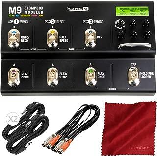 Line 6 M9 Stompbox Modeler Pedal Delay, Modulation, Distortion, Filter & Reverb