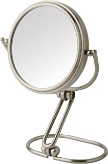 Jerdon MC315N 3-Inch Folding Two-Sided Swivel Travel Mirror with 15x Magnification, Nickel Finish