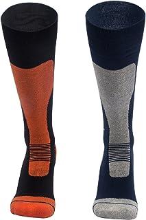 Barrageon, Calcetines de Esquí Térmico Calientes para Snowboard, Senderismo, Ciclismo, Trekking, Calcetine de Invierno Deportes Control de Humedad Anti-Odor Anti-Bacteriano