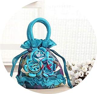 刺繍入りバッグ、携帯ハンカチ、小さなキャンバスバッグ、中年女性用バッグ、野菜を買う、財布を取る、ミニマザー