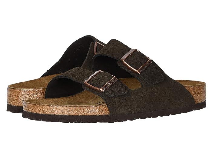 Birkenstock  Arizona - Suede (Unisex) (Mocha Suede) Sandals