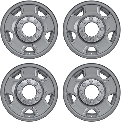 2021 17 inch Hubcap Wheel Skins for 2005-2010 Ford F250/F350 -(Set 2021 of 4) Wheel Covers- Car Accessories 2021 for 16inch Chrome Wheels- Auto Tire Replacement Exterior Cap Cover outlet online sale