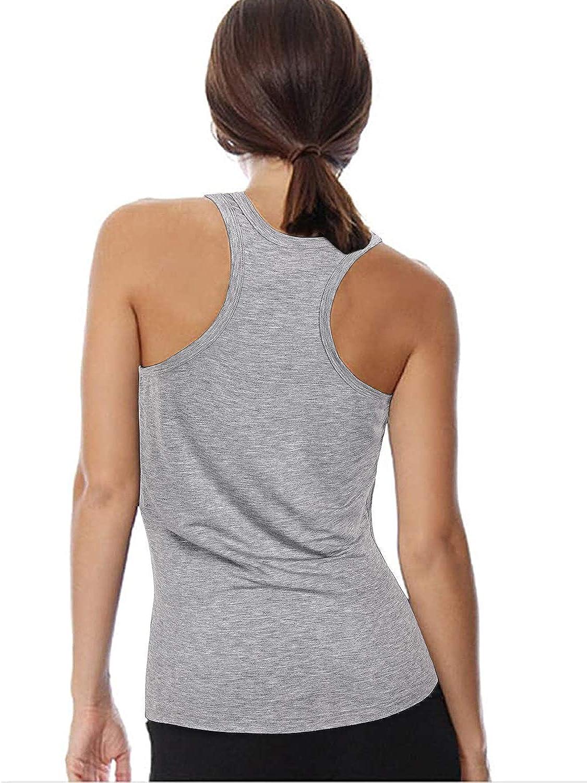 S-ZONE Damen Sport Top Yoga Racerback Tank Top Racer Back Top Laufen Fitness Workout /Ärmellose Weste Schnelltrocknendes Funktionshemd
