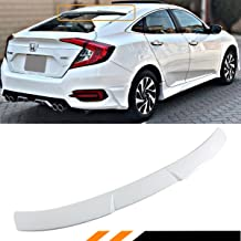 Cuztom Tuning Fits for 2016-2019 10th Gen Honda Civic X 4 Door Sedan Glossy White Rear Window Roof Spoiler