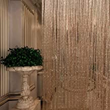 Lafunda String Dew Drop Curtains Bling Sparkle Fly Screen Curtain Door Beads Lightweight Bead Curtains for Doorways Divider Window Curtain Panel Party Decorations,S Champagne