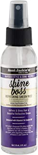 Aunt Jackie's Grapeseed Style and Shine Recipes Shine Boss Refreshing Sheen Hair Mist, Gives Curls, Waves and Coils Shine ...