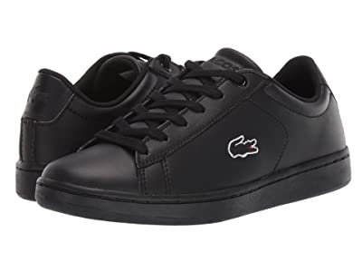 Lacoste Kids Carnaby Evo BL 3 (Little Kid/Big Kid) (Black/Black) Kid