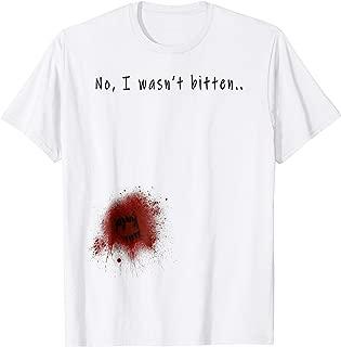 Funny Zombie Bite Halloween T shirt Bitten Injury Men Women