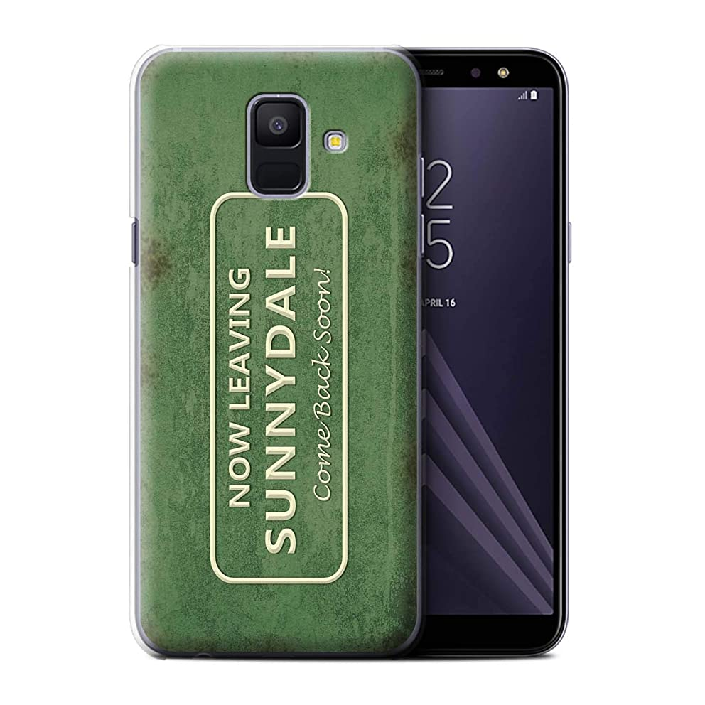 STUFF4 Phone Case/Cover for Samsung Galaxy A6 (2018) / Town Road Sign Design/Vampire Slayer Collection
