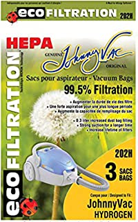 Johnny Vac Hydrogen H2 and Fusion HEPA Vacuum Bags 3 Pack 202H by JohnnyVac