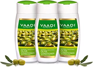 Silky Smooth Conditioner - ★ Olive Oil Conditioner with Avocado Extract - ★ Herbal Conditioner - ★ Sulfate Free - ★ Scalp Therapy - ★ Moisture Therapy - ★ ALL Natural - ★ Each 3.7 Ounces - Value Pack of 3 X 110ml (11.16 Ounces) - Vaadi Herbals