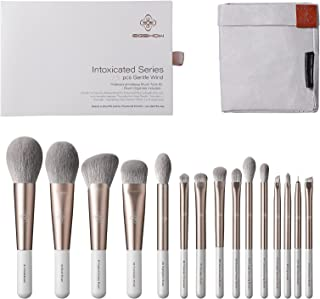 Makeup Brush Set 15pcs Pro Everyday Essentials Makeup Brushes Tool Kit Premium Synthetic Face and Eye Brushes for Foundation, Powder, Concealers, Blush, and Eyeshadow. (15pcs)