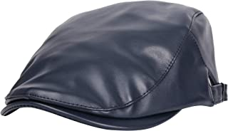 WITHMOONS Faux Leather Ivy Flat Cap Cabbie Newsboy Hat MZ30039