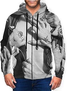 LutherStamm Men's Midweight Hooded Zip Front Halestorm Vicious Fashion Sweatshirt