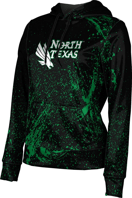 University of North Texas Girls' Pullover Hoodie, School Spirit Sweatshirt (Splatter)