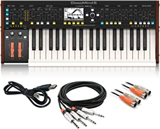 $549 » Behringer DeepMind 6 True Analog 6-Voice Polyphonic Keyboard Synthesizer bundle with Cable Kit
