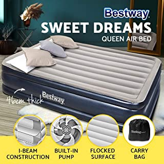 Bestway Camping Mattress Air Inflatable beds Built-in Pump-Queen Size