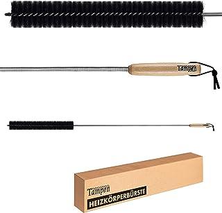 Tampen Cepillo para radiador, 120 cm, pelo de cabra como imán para el polvo, mango de madera con correa de piel, cepillo p...