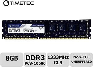 Timetec Hynix IC 8GB DDR3 1333MHz PC3-10600 Unbuffered Non-ECC 1.5V CL9 2Rx8 Dual Rank 240 Pin UDIMM PC Sobremesa Memoria Principal Module Upgrade (8GB)