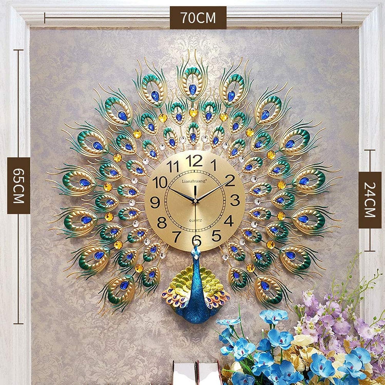 Pfau Wanduhr Kristall Wanduhr Europischen Wohnzimmer Uhr Stumm Uhr Kunst Dekoration Wanduhr,A