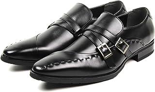 [セレブル] (プレイボーイ) PLAYBOY 紳士靴 ビジネスシューズ メンズ 防水 通気性 3e モンクストラップ アシンメトリー PB-0727
