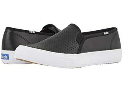 Keds Double Decker Perf Leather (Black) Women