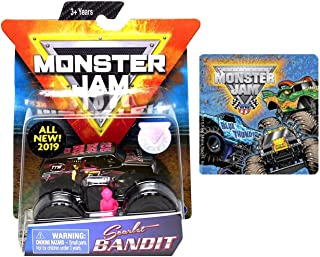 2019 Monster Jam Scarlet Bandit & One Monster Jam Sticker (Styles Vary) 2 Items Bundle